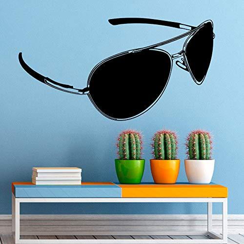 guijiumai Brille Wandtattoo Vinyl Aufkleber Fashion Style Hawaiian Wandaufkleber Wohnkultur Wohnzimmer Schlafzimmer Removable Decals Soft pink 108x57 cm