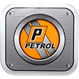 Sepia SPP 002 Universal Car Fuel Badge Sticker (Orange and Grey)