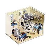LSAltd Children Puzzle Toys Creative Miniature 3D DIY LED Dollhouse Furniture Puzzle Decorate Princess Room