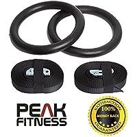 Anillas Olímpicas de Gimansia de Peak Fitness para la Fuerza del Tren Superior y para Ejercicios de Peso - Elección de los colores...