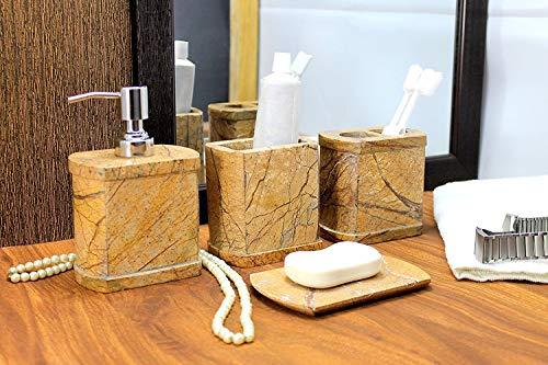 Set accessori bagno di lusso kleo da pezzi include dispenser
