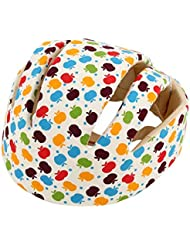 Laurelmartina Cascos de Seguridad para bebés Sombrero de protección Infantil de algodón Protector para la Cabeza para recién Nacidos Niños Niñas Sombrero antichoque a Prueba de choques