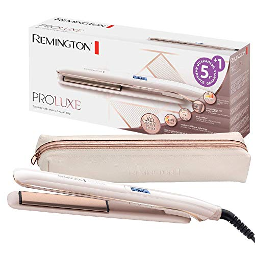 Remington Haarglätter PROluxe S9100, OPTIheat-Technologie und Ultimate-Glide-Keramikbeschichtung, rose gold