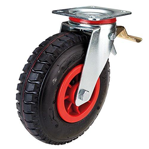 Lenkrolle mit Feststeller 225 mm Luftrad mit Kunststoff-Felge -