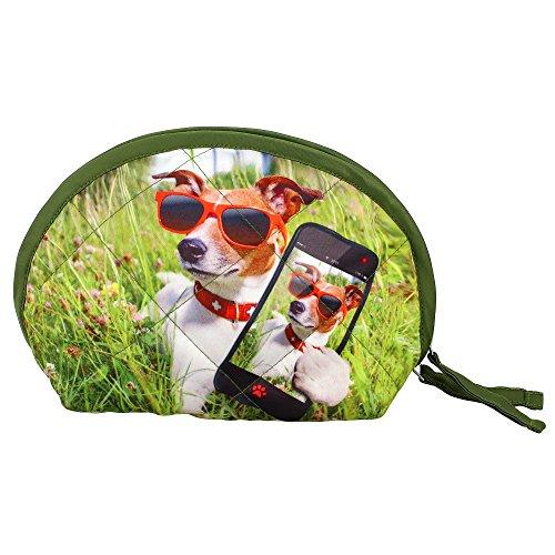 Indiano Digital Dog grafica del cinturino dell'orologio Borsa - Adorabile stampa all-over - trapuntato in (Stampa Trapuntato Borsa)