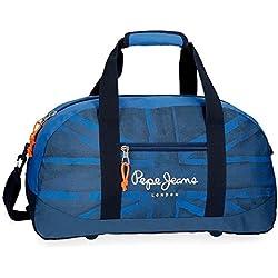 Pepe Jeans Fabio 6093561 Bolsa de Viaje, 50 cm, 27 litros, Azul