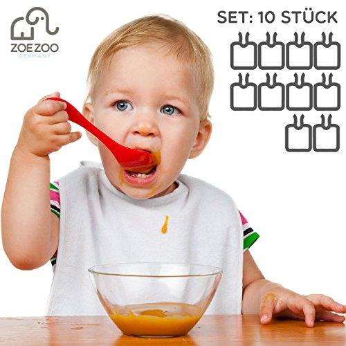 Lätzchen bemalbar   10 Stück Set weiß   100% Baumwolle mit wasserabweisender Rückseite   Kinder & Erwachsene   kreatives premium Geschenk Geburt, Babyparty, Baby Shower Party   Marke ZoeZoo