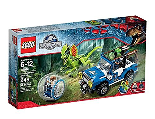 LEGO - 75916 - Jurassic World - Jeu de Construction - L'Embuscade du Dilophosaure