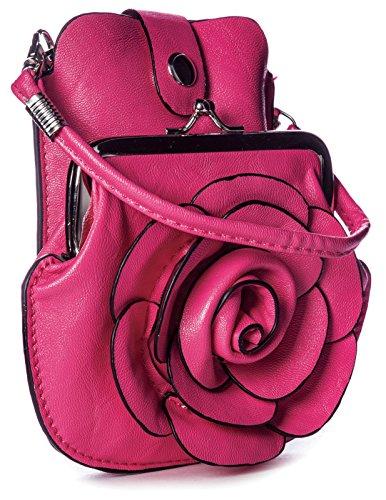Big Handbag Shop, Borsetta da polso donna One Rosa (Rosa)