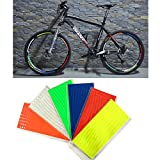 Fitracker Lot de 48bandes fluorescentes de 6couleurs pour VTT, vélo, stickers réfléchissants pour roue de vélo
