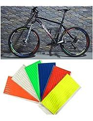 48Streifen 6Farben fluoreszierend MTB Fahrrad Reflektor Aufkleber für Fahrrad Felge Aufkleber Klebeband