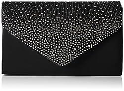 SWANKYSWANS Womens Abby Diamante Envelope Style Bag Clutch Black