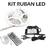 5M LED Bande SMD5050 300 Ampoules Eclairage Etanche Flexible Adapteur Inclus...