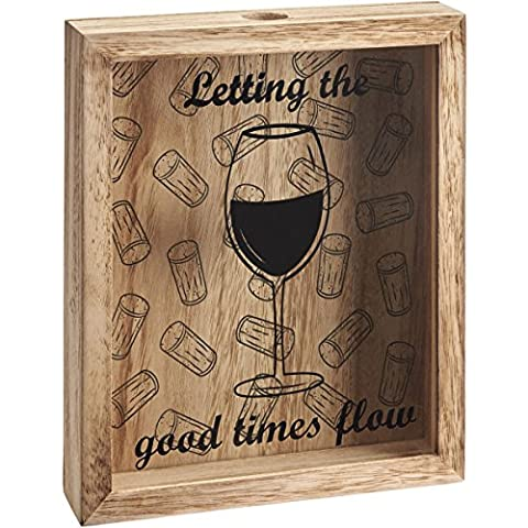 Wooden Wine Cork / Beer Bottle Cap 3D Collection Box