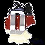 3D Chrom Emblem Aufkleber Flagge Land EU Deutschland Germany Europa EM WM L115