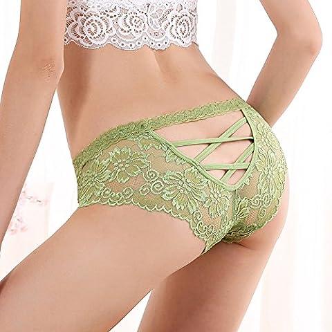 RangYR* biancheria intima sexy, biancheria intima di pizzo tentazione 3 low-rise corner pantaloni hip non Marcatura incisione underwear , codice , sono di colore verde
