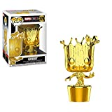 Funko 33514 Marvel Studios 10: Groot (Chrome) POP Bobble, Multi