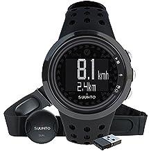 Suunto M5 MEN ALL PACK - Reloj hombre fitness, monitor frecuencia cardiaca + cinturón de frecuencia cardiaca, funciones frecuencia cardiaca ampliadas, sumergible hasta 50 m, color negro