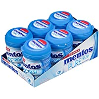 Mentos Chicle Menta, Sin Azúcar - 6 unidades de 60 gr. (Total 360 gr.)