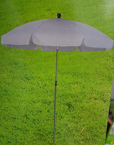 Meinposten Sonnenschirm 180 cm Strandschirm Gartenschirm Schirm UV Schutz grau GARDENLINE