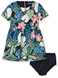Tommy Hilfiger Mädchen Kleid Flower Print Dress S/S, Blau (Navy Blazer 431), 176 (Herstellergröße:16)