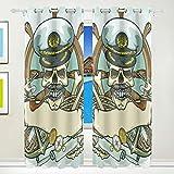 MALPLENA Cool Pirat Polyester Verdunkeln Fenster Vorhang, verdunkelnd, wärmeisolierendem Sun Block Gardinen/Drapes 2heraklithplatten Set 8Tüllen Pro Panel waschbar