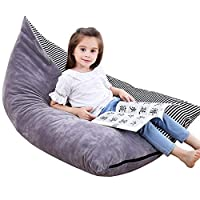Everfunny Stuffed Animal Bean Bag Chair Kids Toy Storage Organizer Stuffie Seat, Foldable Floor Chair Toy Storage Bean Bag Chair Seat for Kids, Childrens Extra Large Super Soft Velvet£¬Cover Only