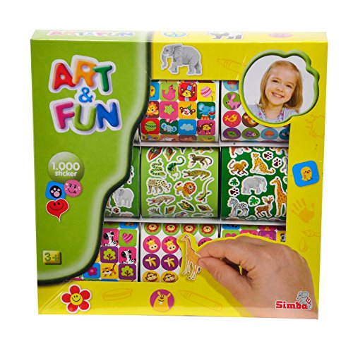 Simba 106304563 - Art & Fun 1.000 Sticker, 2-sort.