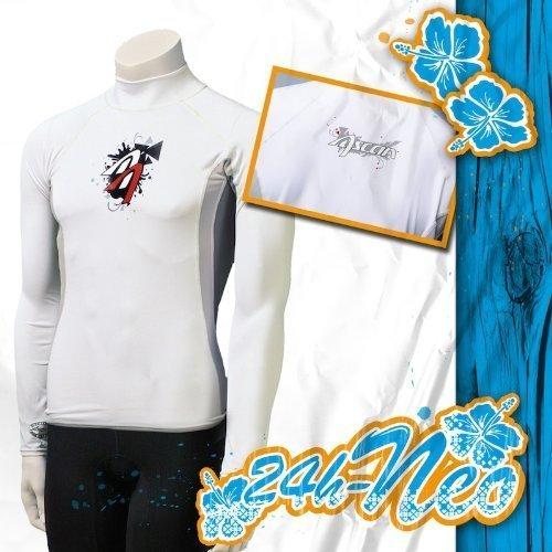 Ascan LYCRA Shirt Man white KURZARM Neu! UV-Schutz SURF…   04049573211044