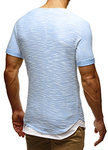 LEIF NELSON Herren T-Shirt Sweatshirt Hoodie Hoody LN6360 Blau