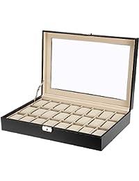 Uten Cajas para Relojes Estuche de Relojes 24 Compartimentos para joyero Relojes