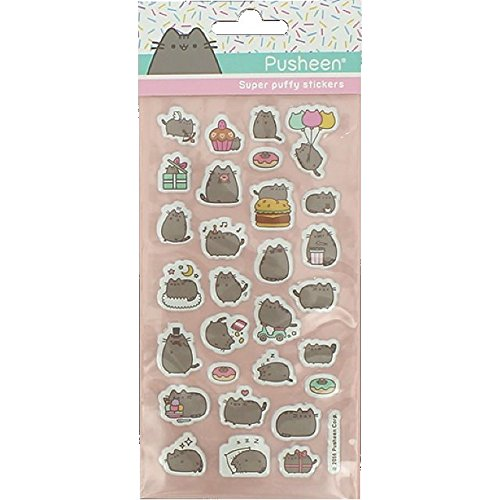 Pusheen Cat Design Puffy Stickers Sheet Party Gift Stocking Filler