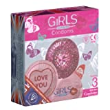EXS For Girls - 3 round foiled condoms with designs for girls, bulk pack by Exs