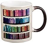 3dRose Colorful Bookshelf, Rainbow, Book...
