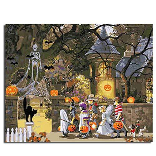 Malen Nach Zahlen Halloween 20×24