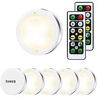 Lampe de Placard Spot LED Murale Bawoo 6pcs Lampes Armoire Veilleuse Autocollante Telecommande Sans Fil pour Escalier…