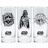 Star Wars - Movie Trinkgläser 3er Set 300 ml - Episode 4-6 - Tie Fighter - Darth Vador - X-Wing