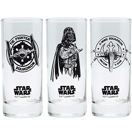 Star Wars – Movie vasos Juego de 3 300 ml – Episodio 4 – 6 – Tie Fighter – Darth Vador – X-Wing