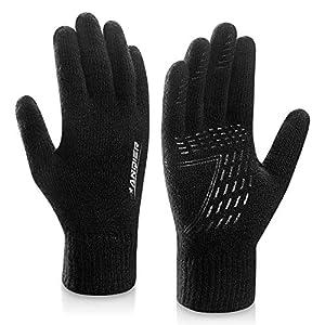 coskefy Handschuhe Herren Damen Winter Strickhandschuhe Touchscreen Gloves Laufen Wolle Warm Laufhandschuhe Geburtstag Sport Fahrrad Reiten Camping Wandern Arbeit Bequem