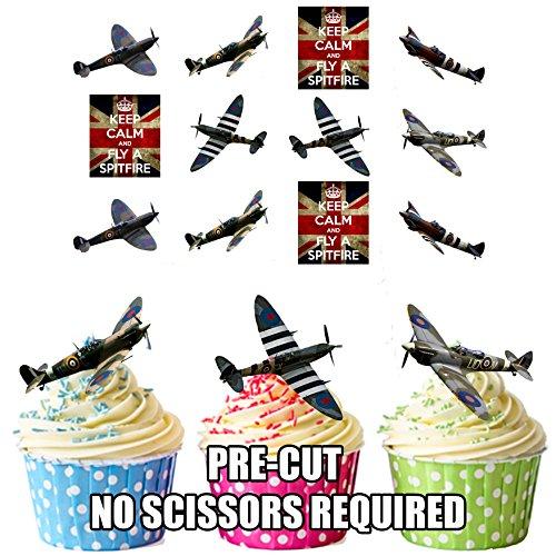 Spitfire Party Pack, Kuchen Dekorationen-36Essbar Stand-up Cupcake Topper