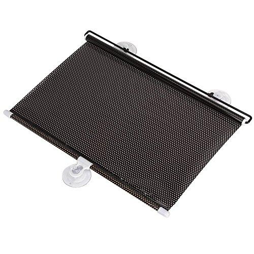 Preisvergleich Produktbild SODIAL(R) 2 Stueck Schwarzer Einziehbarer Sonnenschutz Rollen Auto Vorhang Fenster Schatten UV-Cut/ Schutz (40 * 60 cm)