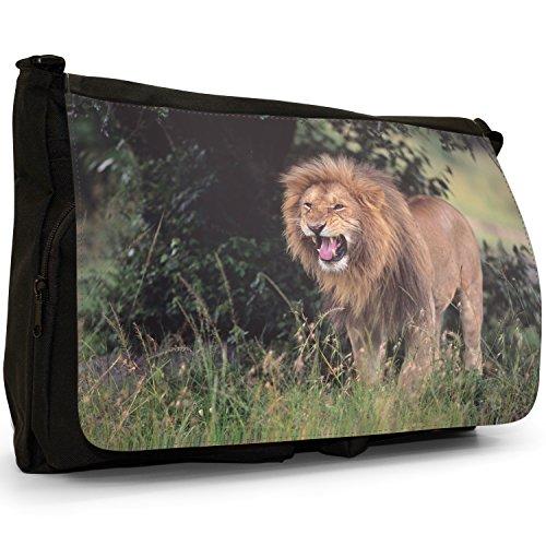 Fancy A Bag Borsa Messenger nero Lion Lion Roar