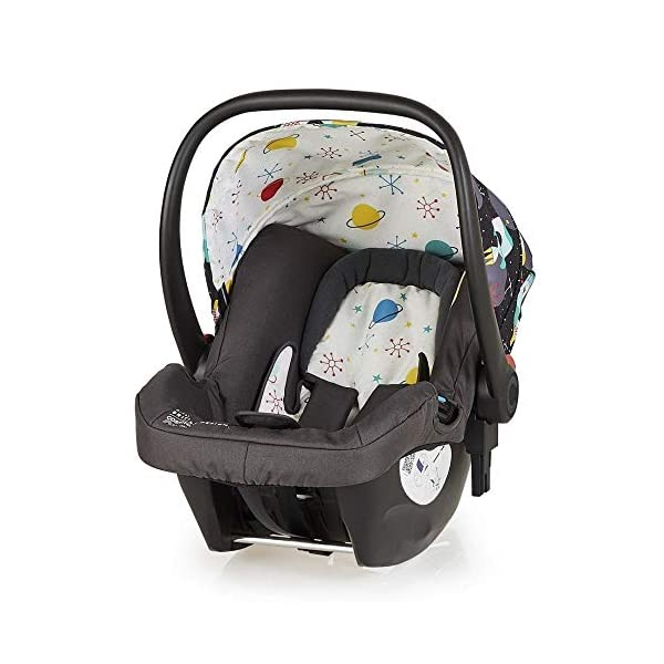 Cosatto Hold Mix Carseat Space Racer Cosatto Hold Mix infant carrier, group 0+ is suitable from birth to 13 kg, rearward facing Deep comfortable shell, contoured for side impact protection to bring extra in-car security Includes plush seat liner and UPF 100+ canopy 1