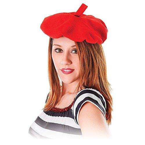 Bristol Novelty BH111 Baskenmütze, Rot, Einheitsgröße