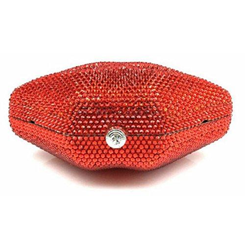 Nai Li Pacchetto Delle Labbra Vuote Delle Donne Europa E La Moda Degli Stati Uniti Sacchetti Di Diamanti Fatti A Mano Banchetto Red