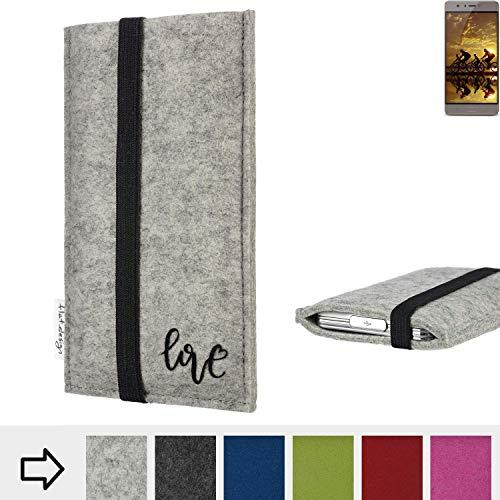flat.design Handy Hülle Coimbra für Allview P9 Energy S personalisierbare Handytasche Filz Tasche Love Liebe