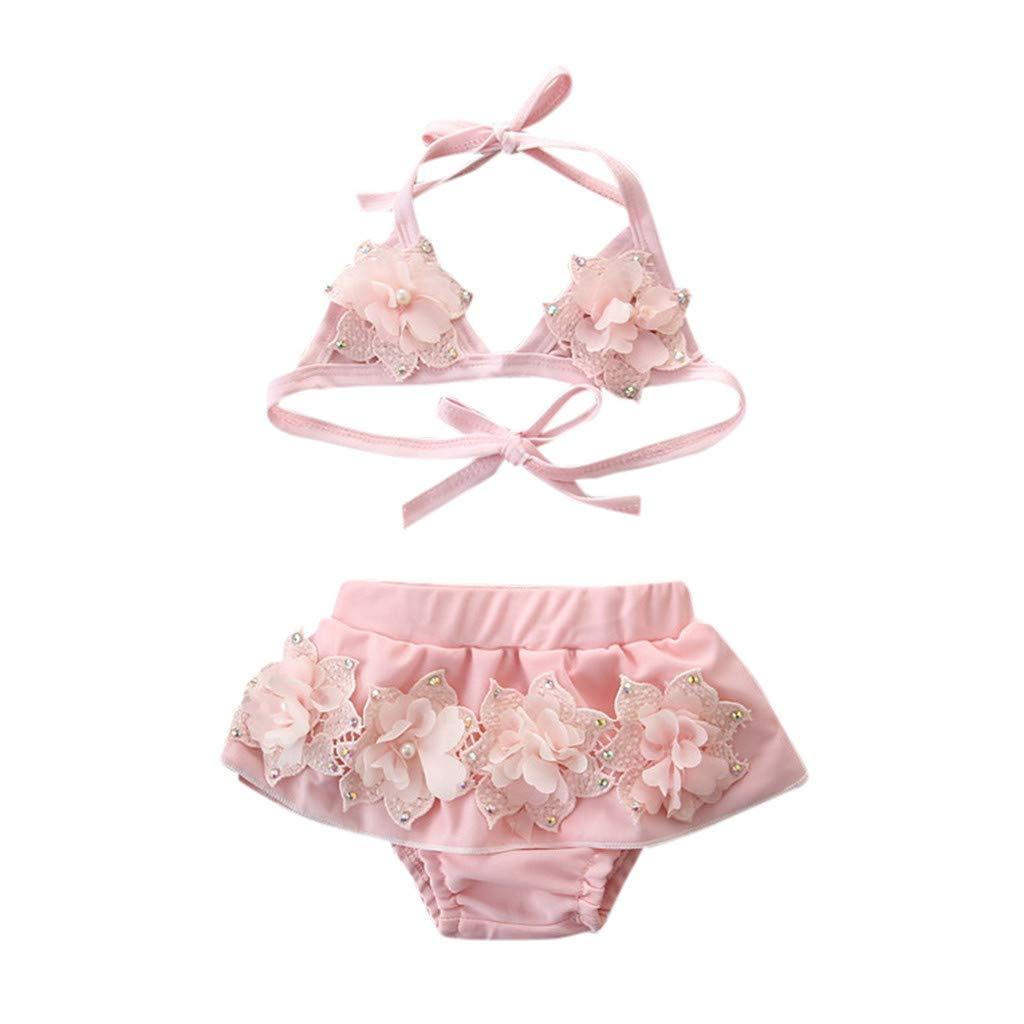 06117c908d9a Jimmackey- Bambina Neonato Costume Bikini 2 Pezzi con Volant Mare Piscina Costumi  da ...