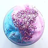 Fluffy Slime,Saingace Bunter mischender Wolken-Zuckerwatte-Schlamm Squishy parfümierte Druck scherzt Lehm-Spielzeug