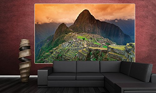 Poster Machu Piccu Wandbild Dekoration Südamerika Peru Sehenswürdigkeiten Inka Stadt Ruine UNESCO Welterbe Kulturlandschaft | Wandposter Fotoposter Wanddeko Wandgestaltung by GREAT ART (140 x 100 cm) - 3