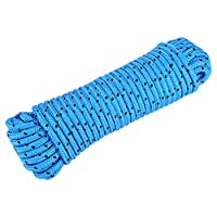 Alomejor Safety Rope 20m Rock Climbing Survival Escape Rope High Strength Cord Safety Rope For Fire Rescue, Hiking And Mountaineering(Light Blue)